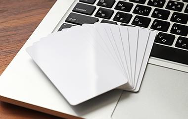 ご支給カード印刷の参考写真